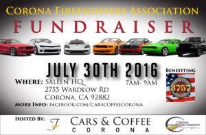 cars and coffee fundraiser corona